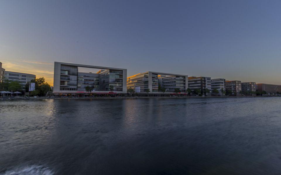 Hintergrundbild Dämmerung Duisburger Innenhafen HDR