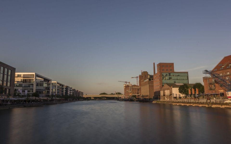 Hintergrundbild Duisburger Innenhafen HDR