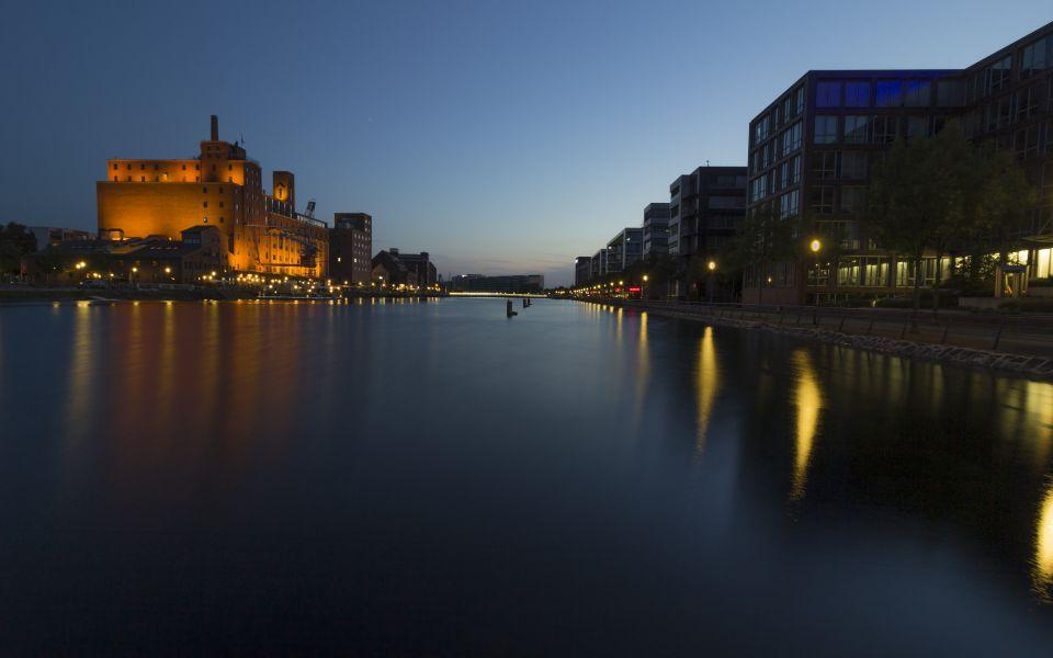 Hintergrundbild Innenhafen Blick nach Westen