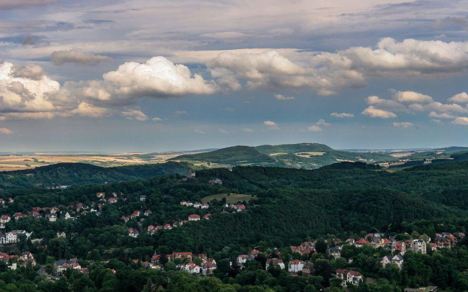 Hintergrundbild Blick von der Wartburg