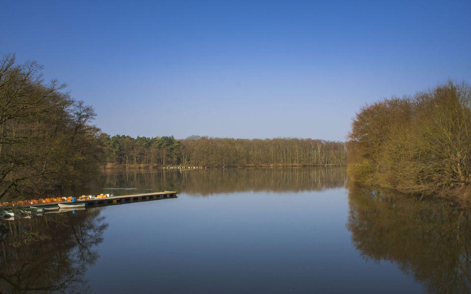 Hintergrundbild Frühlingsmorgen am Halterner Stausee