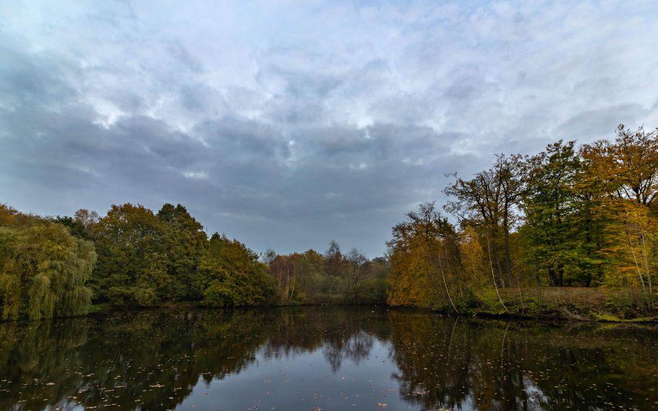 Hintergrundbild Herbstlicher Schlosspark Raesfeld