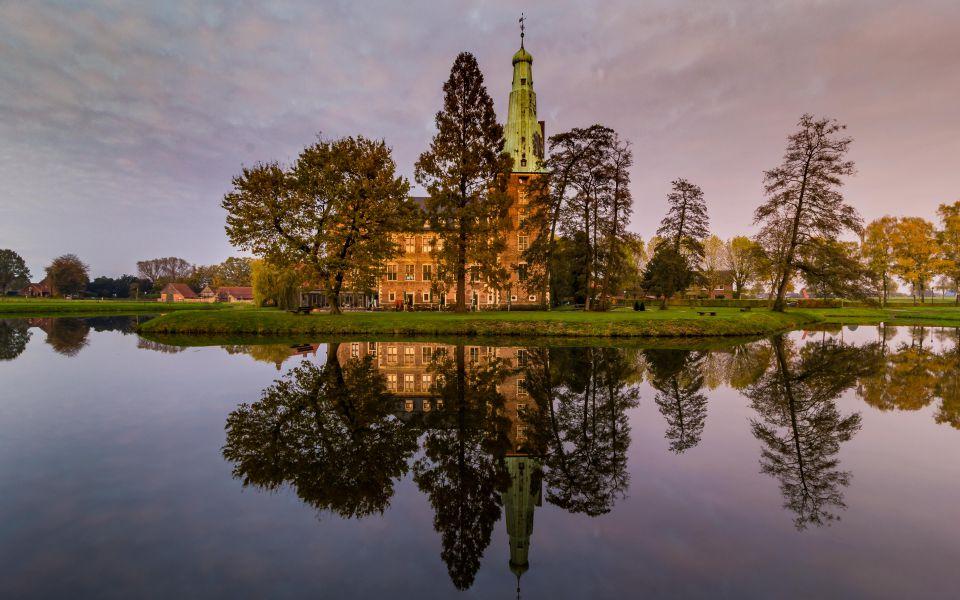 Hintergrundbild Schloss Raesfeld im Herbst