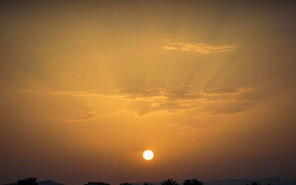 Hintergrundbild Sonnenuntergang Oliva 2