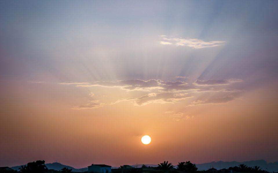 Hintergrundbild Sonnenuntergang in Oliva