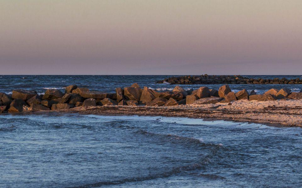 Hintergrundbild Abends an der Ostsee