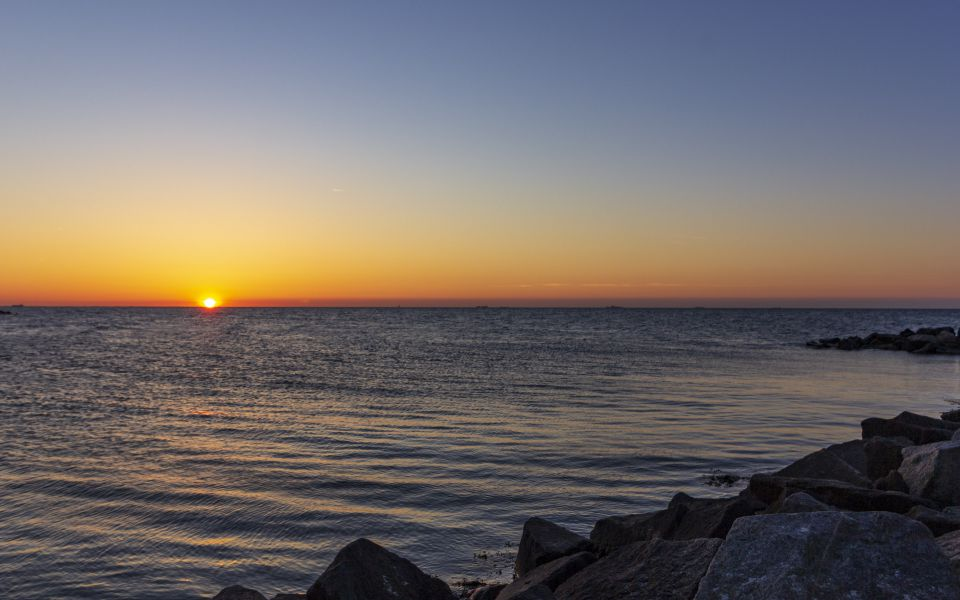 Hintergrundbild Abendstimmung an der Ostsee