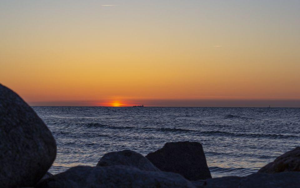Hintergrundbild Blick auf den Sonnenuntergang