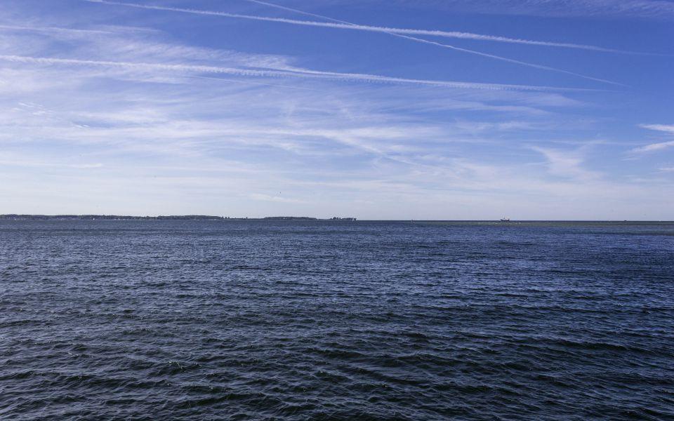 Hintergrundbild Blick in die Kieler Bucht