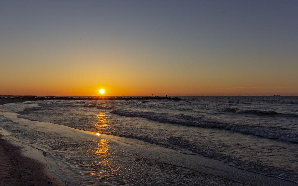 Hintergrundbild Ostsee Sonnenuntergang