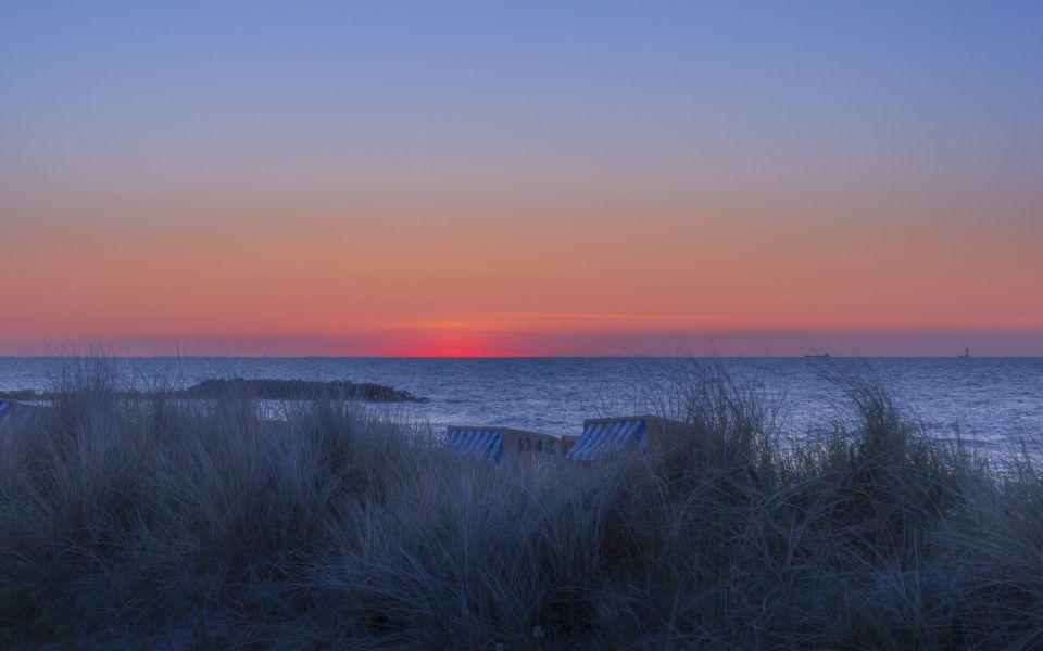 Hintergrundbild Ostsee nach dem Sonnenuntergang