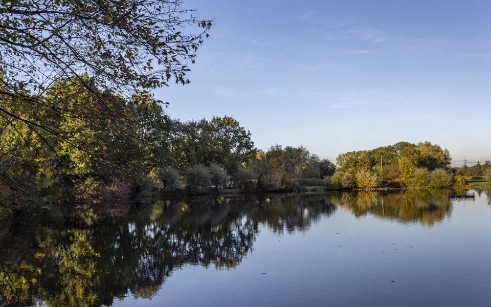 Hintergrundbild - Herbstlicher Mühlteich