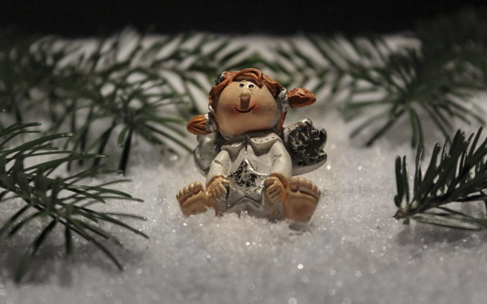 Hintergrundbild - Weihnachten Engel im Schnee