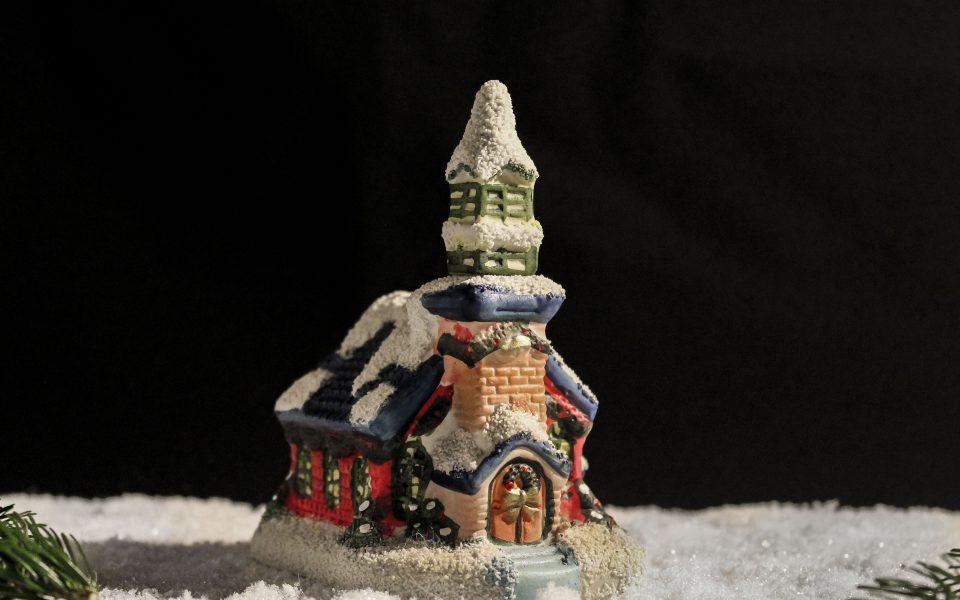 Hintergrundbild - Weihnachten Kleines Häuschen