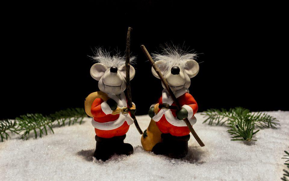 Hintergrundbild - Weihnachten Zwei Mäuse