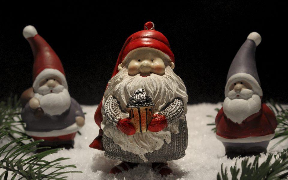 Hintergrundbild - Weihnachten Zwerg mit Wichteln