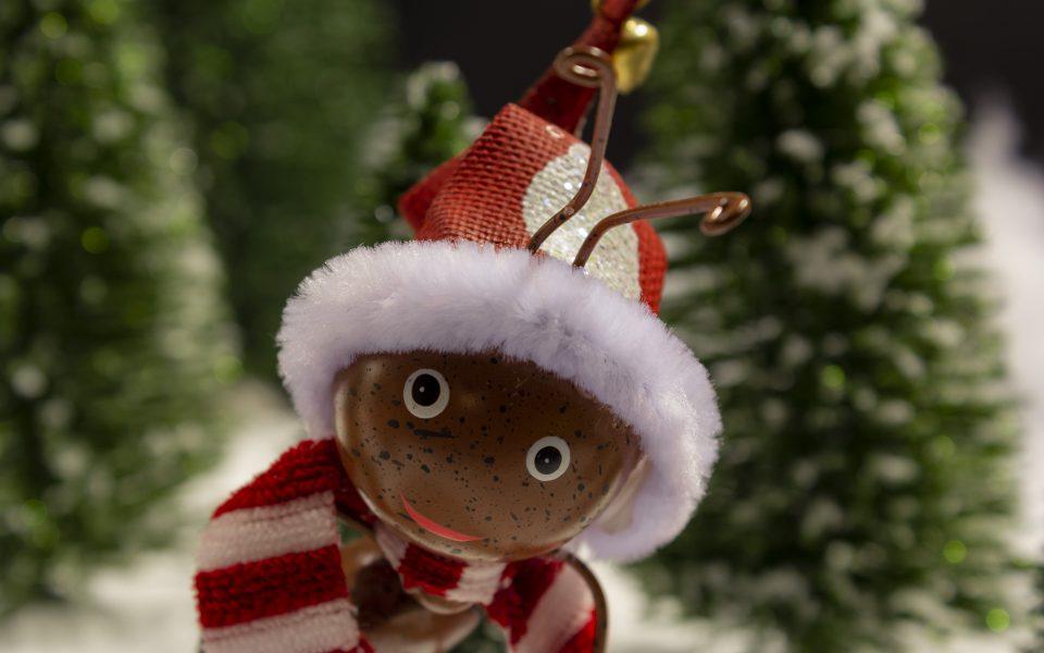 Hintergrundbild - Weihnachten Ameise im Schnee