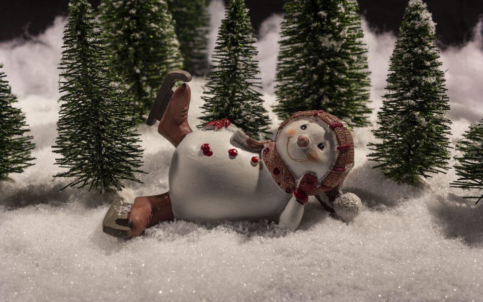 Hintergrundbild - Weihnachten Fröhlicher Schneemann