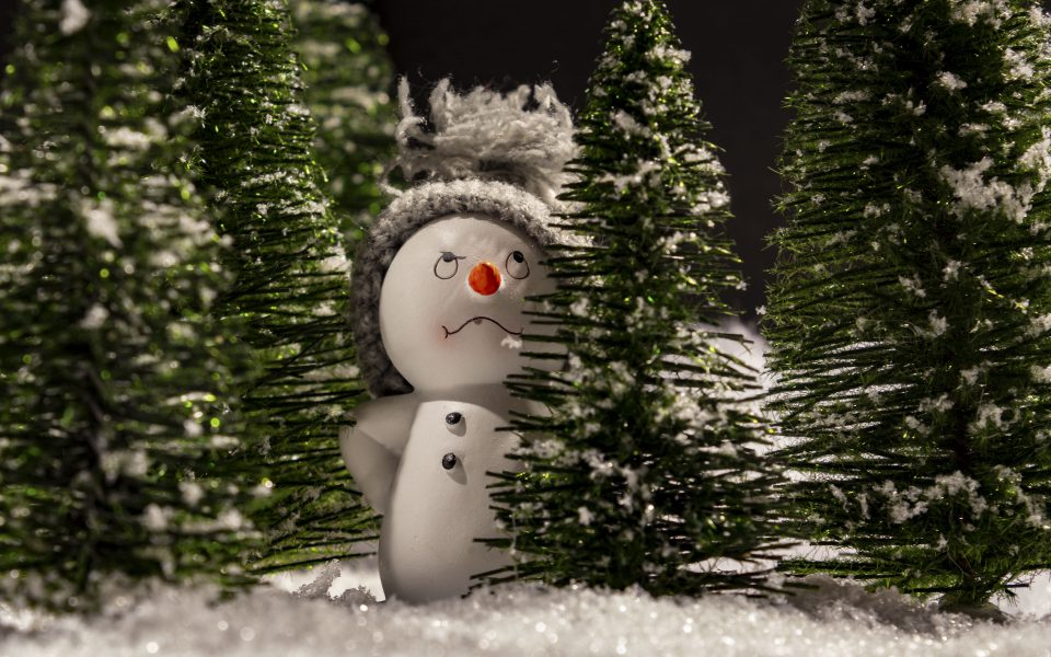Hintergrundbild - Weihnachten Mürrischer Schneemann