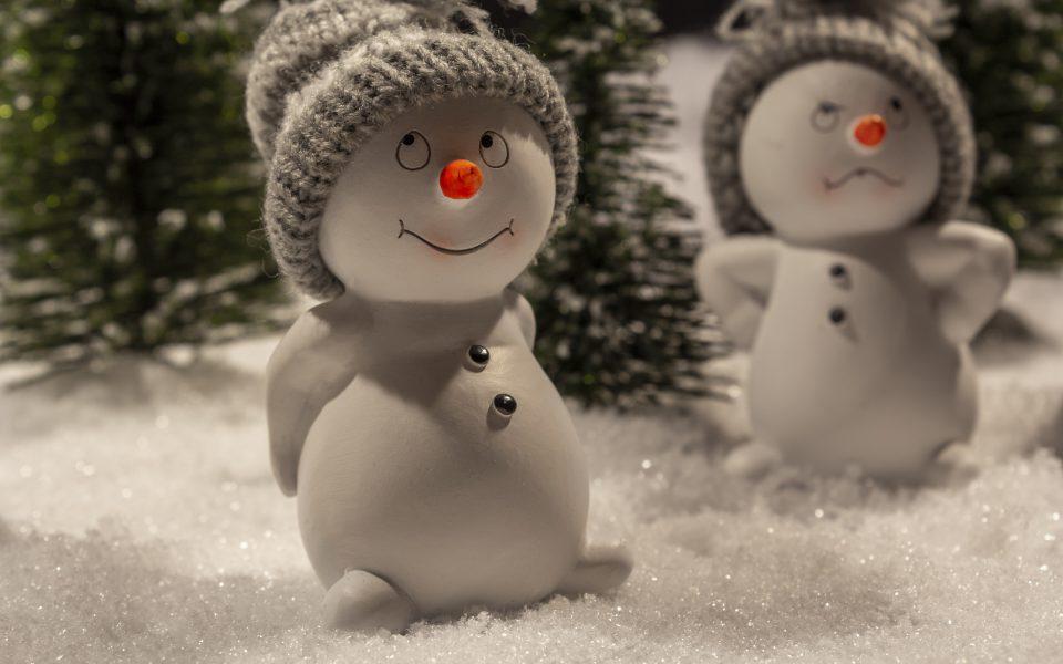Hintergrundbild - Weihnachten Schneemänner