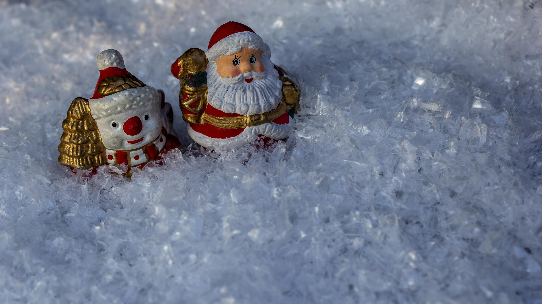 Hintergrundbild Weihnachten Schneemann Und Nikolaus