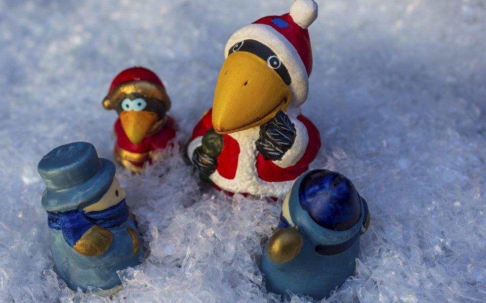 Hintergrundbild - Weihnachten Smalltalk im Schnee