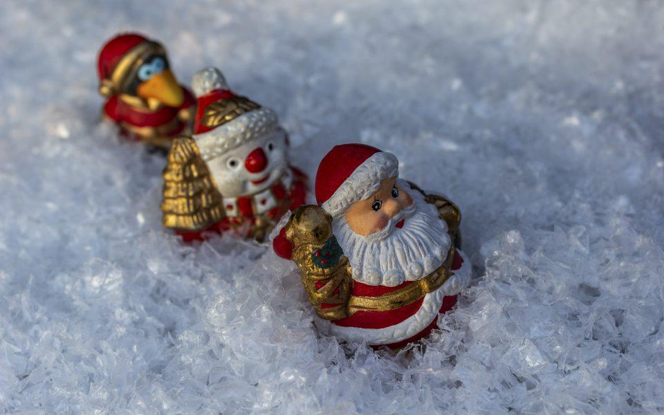 Hintergrundbild - Weihnachten Wanderung im Schnee