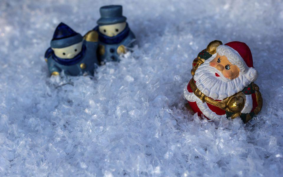 Hintergrundbild - Weihnachten Wichtel und Santa