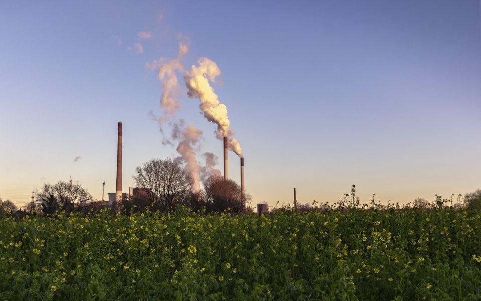 Hintergrundbilder - Blick zum Kraftwerk nach Scholven
