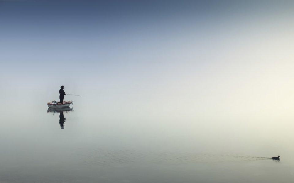 Hintergrundbilder - Lonely Fisherman