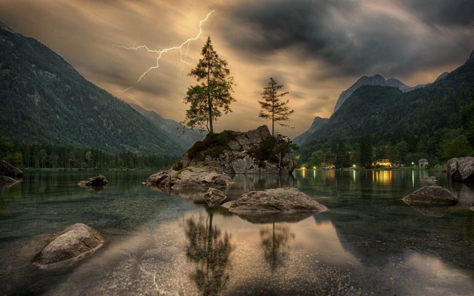 Hintergrundbilder - Mountain Thunder - Hintersee